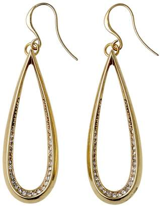 Pilgrim Pear Hoop Fish Hook Earrings... 16ct Gold Plated... Length: 4cm