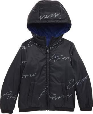 Armani Junior Armani Reversible Nylon Jacket