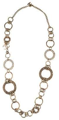 Chanel CC Crystal Circular Chain Necklace