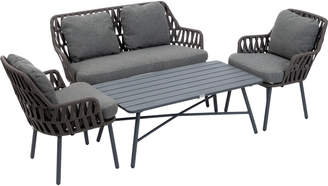Cast Iron Outdoor 4 Seater Colonia Outdoor Lounge & Table Set