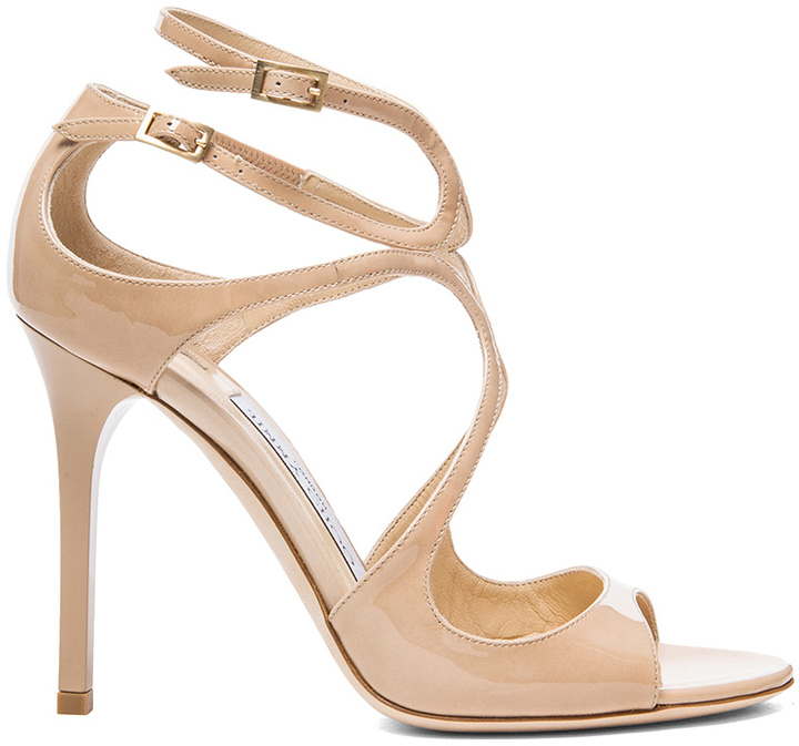 Jimmy Choo Lang Leather Heeled Sandals