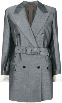 Prada belted double-breasted blazer