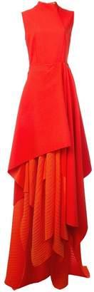 SOLACE London asymmetric maxi dress