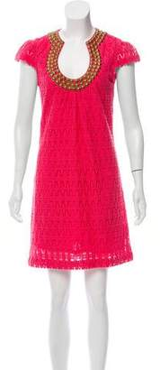 Trina Turk Embellished Crochet Dress