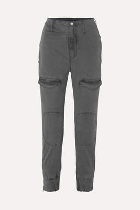 RtA Harlan Stretch-cotton Twill Tapered Cargo Pants - Gray