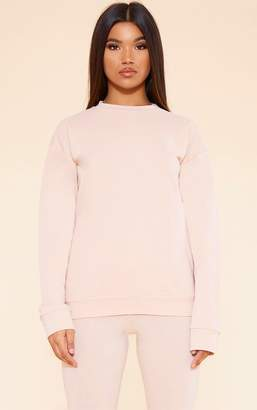 PrettyLittleThing RECYCLED Deep Nude Crew Neck Sweater