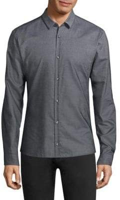 HUGO Ero Slim-Fit Ombre Woven Shirt