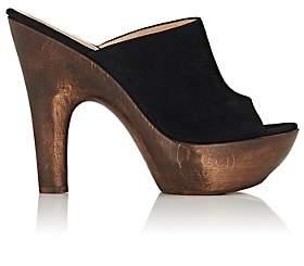 Gianvito Rossi Women's Suede Platform Mules - Black