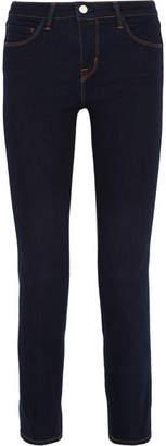 L'Agence Coco Mid-rise Slim-leg Jeans - Midnight blue