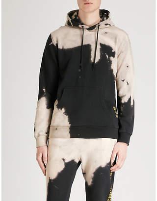 Criminal Damage Bleach distressed cotton-jersey hoody