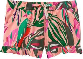 Crazy 8 Crazy8 Palm Ruffle Shorts