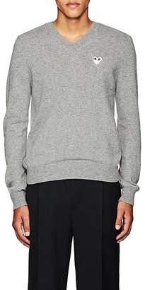 Comme des Garcons Men's Heart Wool V-Neck Sweater