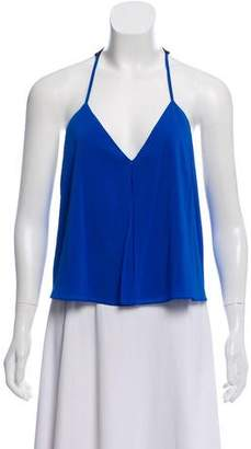Alice + Olivia Lace-Accented Silk Top w/ Tags
