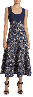 Alaia Closerie Print Jersey A-Line Dress