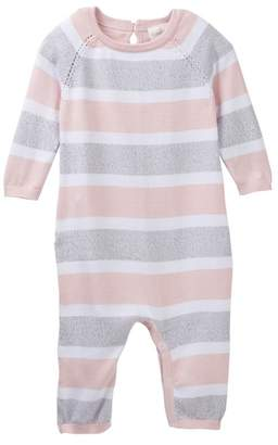 Cuddl Duds Striped Coverall (Baby Girls)
