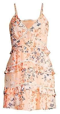 Ramy Brook Women's Emmie Ladder Trim Floral Mini Dress