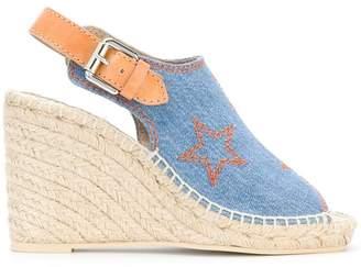 Stella McCartney denim espadrille wedge sandals