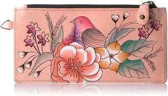 Anuschka Anna By Anuschka, Handpainted Leather Organizer Wallet, Credit Card Holder, VTG