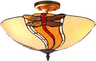 Tiffany & Co. Emporium Cream Dragonfly Glass Ceiling Lamp