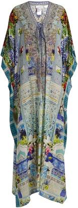 CAMILLA My Majorelle-print silk kaftan $519 thestylecure.com