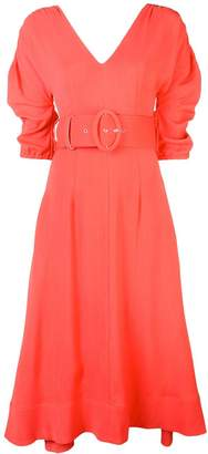 Nicholas ruched sleeve dress