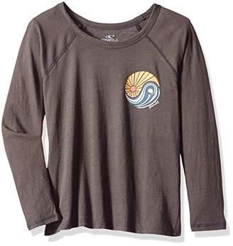 O'Neill Girls' Sol Light Long Sleeve Graphic Screen Print Tee Shirt