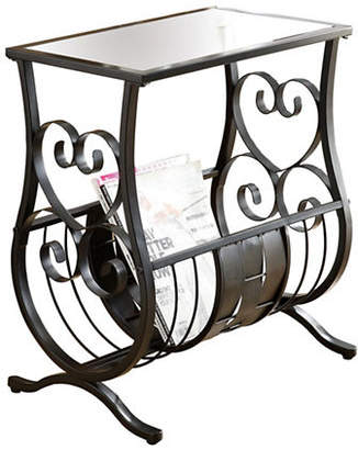 Monarch Traditional Glass Metal Accent Table