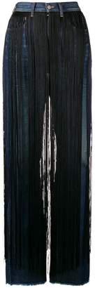 MM6 MAISON MARGIELA fringe embellished trousers