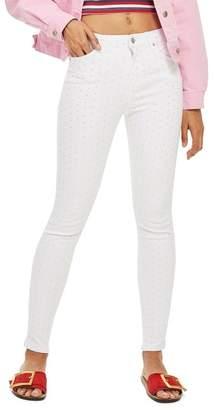 Topshop Jamie Diamante Skinny Jeans