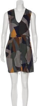 Marni Sleeveless Mini Dress Grey Sleeveless Mini Dress