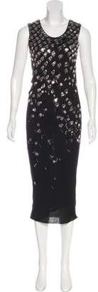Lanvin Jewel Embellished Knit Dress