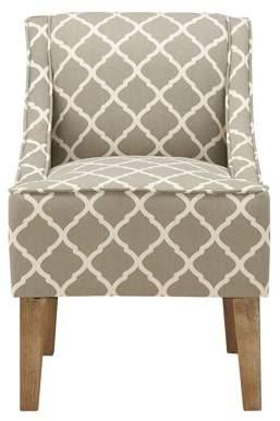 Better Homes & Gardens Lattice Upholstered Swoop Chair, Gray
