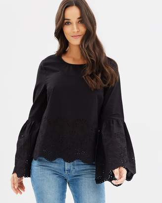 DECJUBA Shelley Cotton Broderie Top