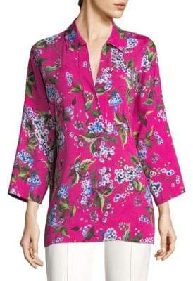 Escada Viscose Floral Tunic