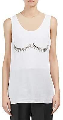 Maison Margiela Women's Ribbed Sleeveless Bra Detail Top