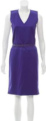 Reed Krakoff Belted Wool Dress