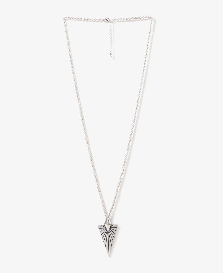 Forever 21 Etched Arrowhead Necklace