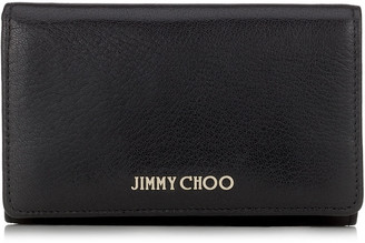 Jimmy Choo MARLIE Black Soft Grained Goat Leather Continental Wallet