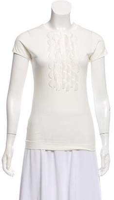 Akris Punto Knit Short Sleeve Top