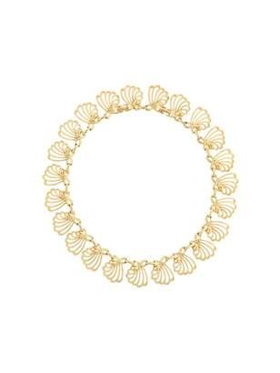 Nina Ricci Vintage Gold Metal Necklace