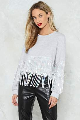 Nasty Gal Can't Shake It Loose Sequin Sweater