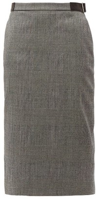 Altuzarra Bolan Prince Of Wales Checked Wool Blend Skirt - Womens - Black White