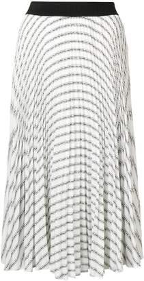 Karl Lagerfeld Paris pleated logo skirt