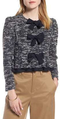1901 Bow Front Crop Tweed Jacket