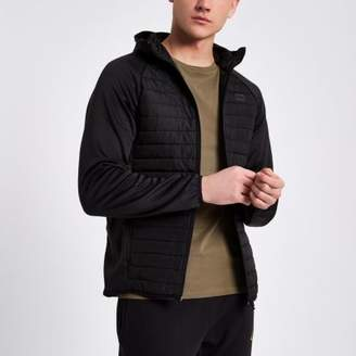 River Island Jack and Jones Core black quilted jacket