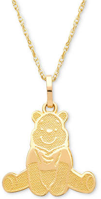 "Disney Children's Winnie the Pooh 15"" Pendant Necklace in 14k Gold"
