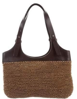 Giorgio Armani Woven Leather Shoulder Bag