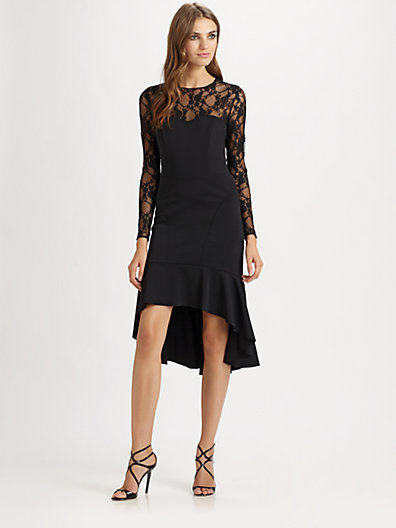 Teri Jon Lace Illusion Dress