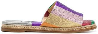 Alexandre Birman colour block espadrille slides