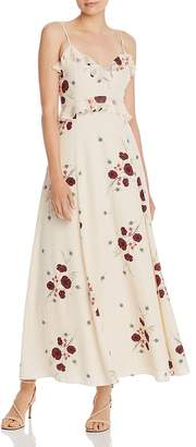 Joie Cassiel Ruffled Floral Maxi Dress